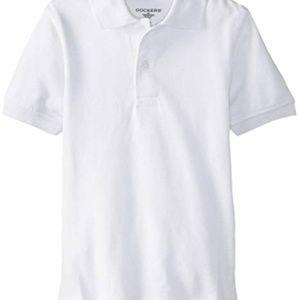 Dockers Boys' Uniform Short Sleeve Polo